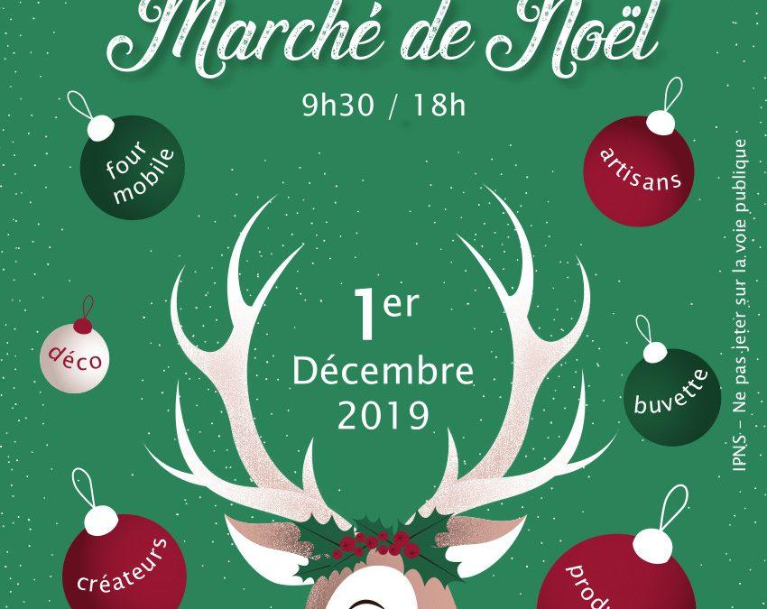 Affiche du marché de Noël 2019 de Chanonat